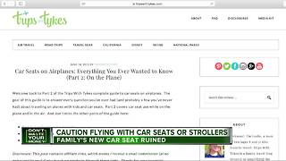 Caution flying with car seats or stollers