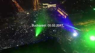 Thousands Rally in Bucharest Anti-Government Protest - Video