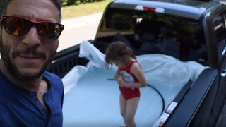 Man Turns a Pickup Truck Into a Pool for Father's Day - Video