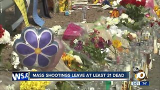 Mass shootings leave at least 31 dead
