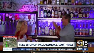 Get free brunch on Sunday - Video