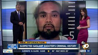 Suspected Gaslamp shooter has criminal history - Video