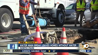Main break leaves North Park homes without water