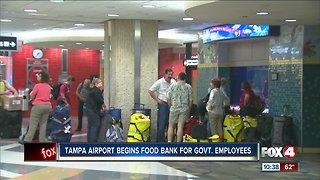 Tampa airport begins food bank for government employees