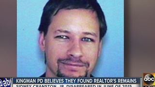 Kingman PD believes they found remains of missing realtor Sidney Cranston Jr - Video
