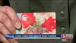 Long lines at the National Park Service for $10 pass 5p.m. - Video