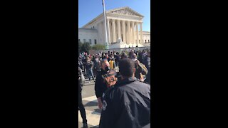 Antifa Realizes They Are Outnumbered at SCOTUS