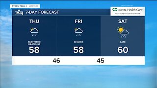 More showers and thunderstorms possible for Thursday