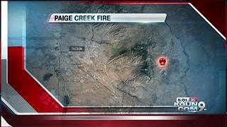Paige Creek Fire has burned 1,064 acres on the eastside of Rincon Mountains. - Video