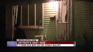 7-year-old shot by stray bullet in Detroit - Video