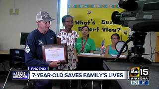 Phoenix girl saves family from house fire days after fire classes