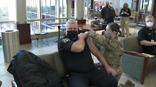 First Tinker AFB personnel receive COVID-19 vaccine