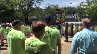 Gay Men's Chorus Drowns Out Protesters at Knoxville Pride - Video