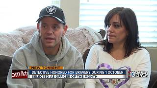 LVMPD officer being honored for bravery - Video