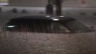 Car Submerged in Deadly Des Moines-Area Flooding