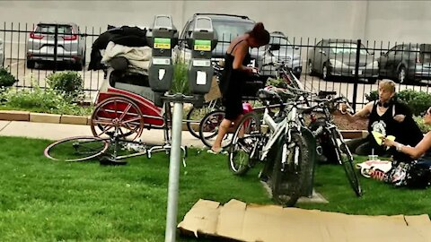 Cyclists searching for stolen bikes in Denver's homeless camps