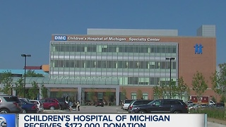 Children's Hospital of Michigan receives $172,000 donation - Video