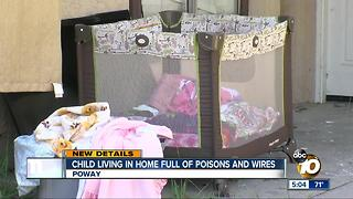 Child living in home full of poisons and wires - Video