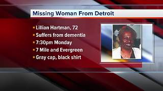 Detroit police search for missing elderly woman with dementia