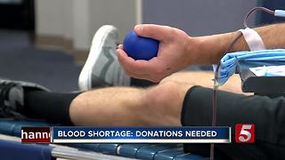 Red Cross Blood Bank At Critically Low Levels - Video