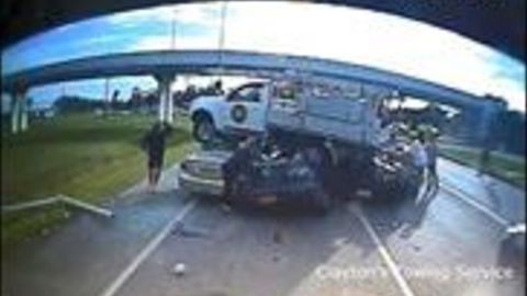 Pick-Up Truck Flies Through Air and Lands on 3 Vehicles in Queensland Crash