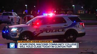 Classes to resume at Macomb Community College after gunman prompts lockdown - Video