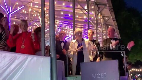 UK PM Theresa May dances the night away at Henley Festival