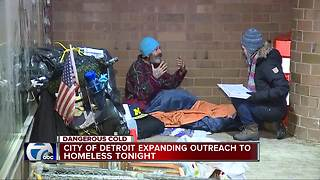 City of Detroit expanding outreach to homeless tonight - Video