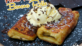 French toast banana rolls