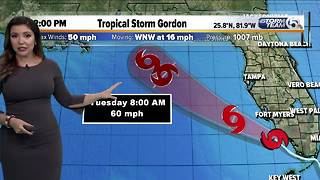 Tropical Storm Gordon 2 p.m. advisory