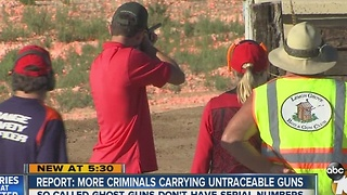 Report: More criminals carrying untraceable guns - Video