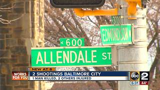 Double Shooting in Baltimore - Video