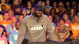 Lebron James Opens School For At-Risk Youth - Video