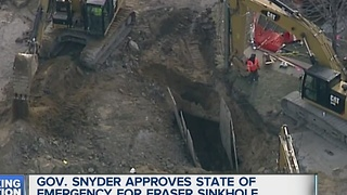 State of Emergency declared over sinkhole - Video