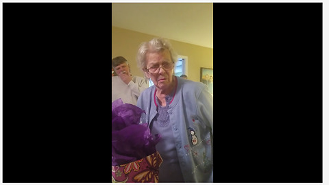 Grandma With Alzheimer's Tries To Remember Her Age During Birthday Party
