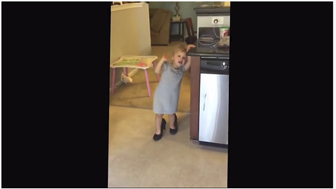 Little Girl Dances To Taylor Swift Song In Mommy's High Heels