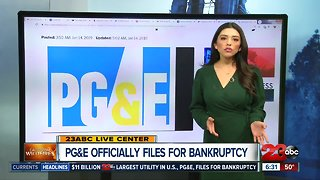 PG&E officially files for bankruptcy