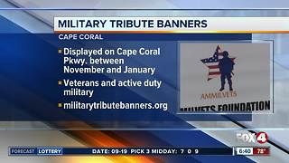 Cape Coral military tribute banners - Video