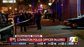 Covington officer gets help from good Samaritan after assault - Video