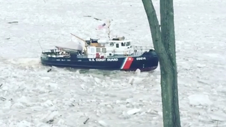 Coast Guard Cuts Through Ice Jams on Connecticut River - Video