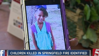 Officials ID Children Killed In Springfield House Fire - Video
