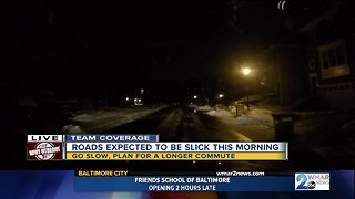Slick roads expected - Video