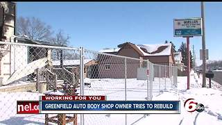 Greenfield Auto Body shop facing huge setback after fire last November - Video