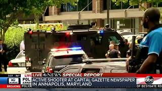 Multiple people shot at Annapolis, Maryland newspaper office - Video
