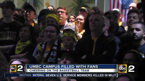 UMBC fans keep the spirit going through second round loss