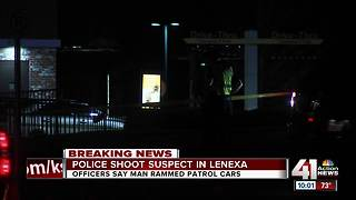 Lenexa police shoot man allegedly ramming cars - Video