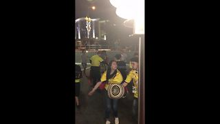 Colombian mother turns Saransk car park into street party after Japan loss