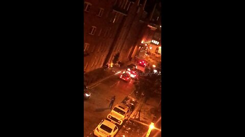 Cars collide during violent 'gang' fight in Shoreditch, London