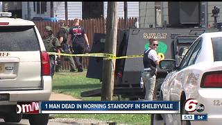 One man dead following standoff in Shelbyville - Video