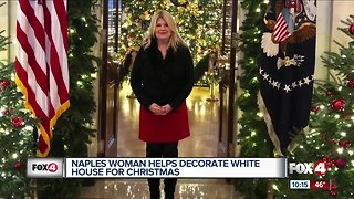 Naples woman helps decorate White House for Christmas